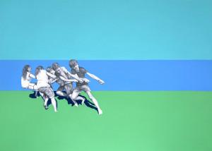 SIMMETRIE IMPROBABILI, dittico (dx), 70x50cm ciascuno, acrilico e grafite su carta, 2017